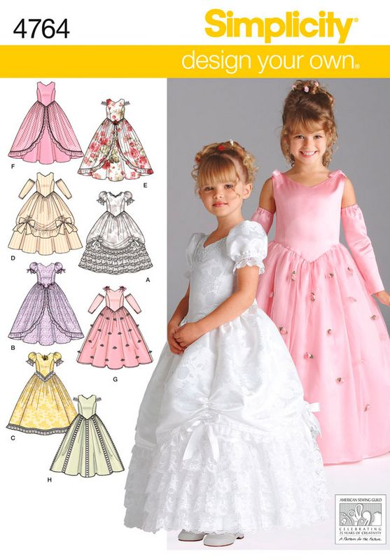 80f2cc9c233 Toddler Patterns - Simplicity Child Special Occasion Dresses Pattern ...