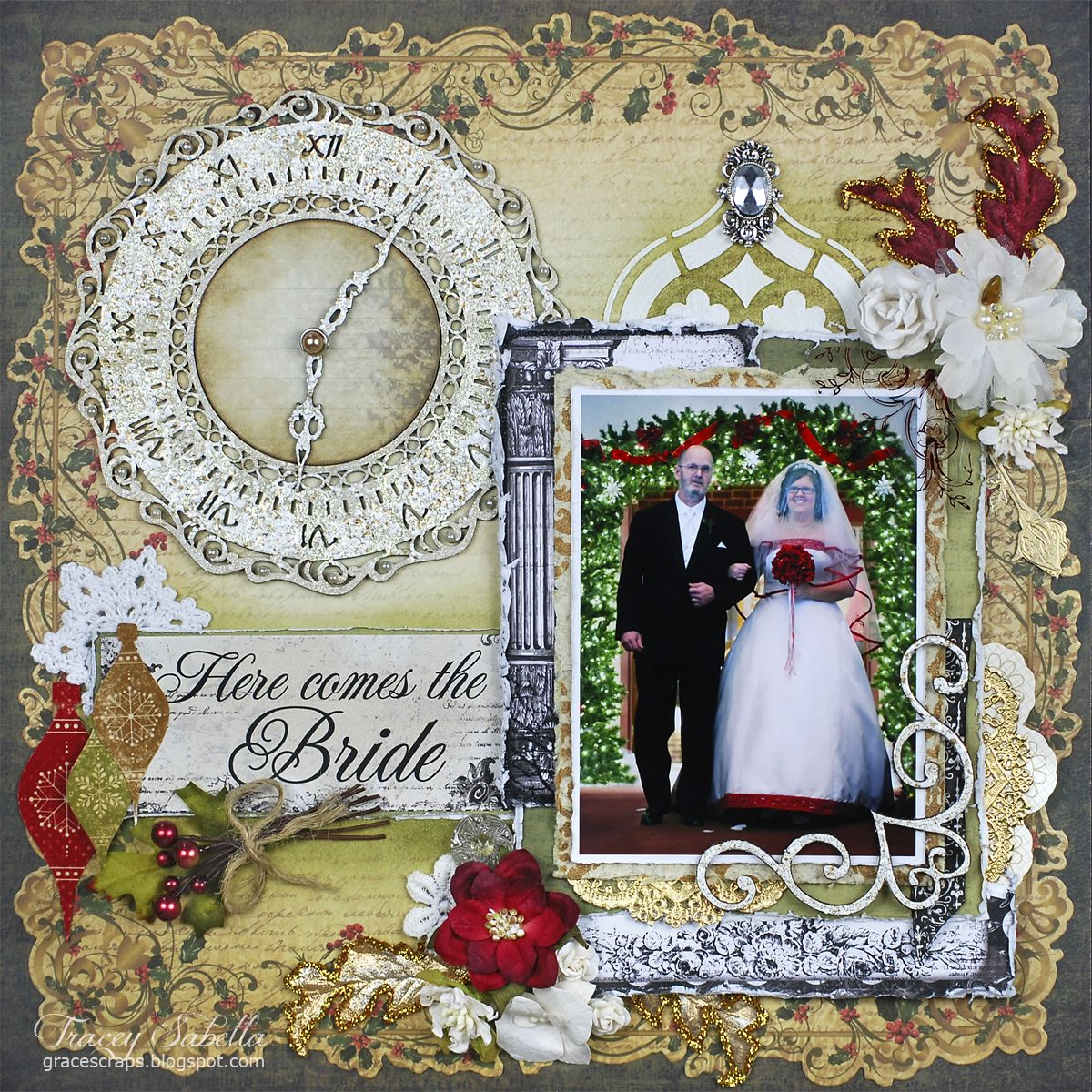 "Wedding Scrapbook: ""Here Comes The Bride"" DT For Helmar"