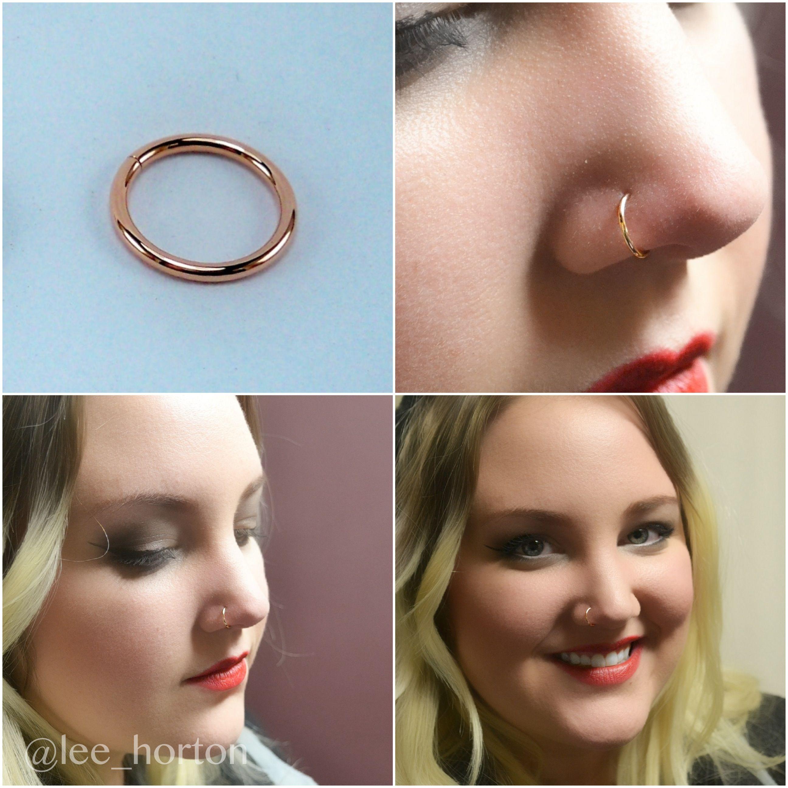 Gold nose piercing  Lee Horton leehorton on Pinterest