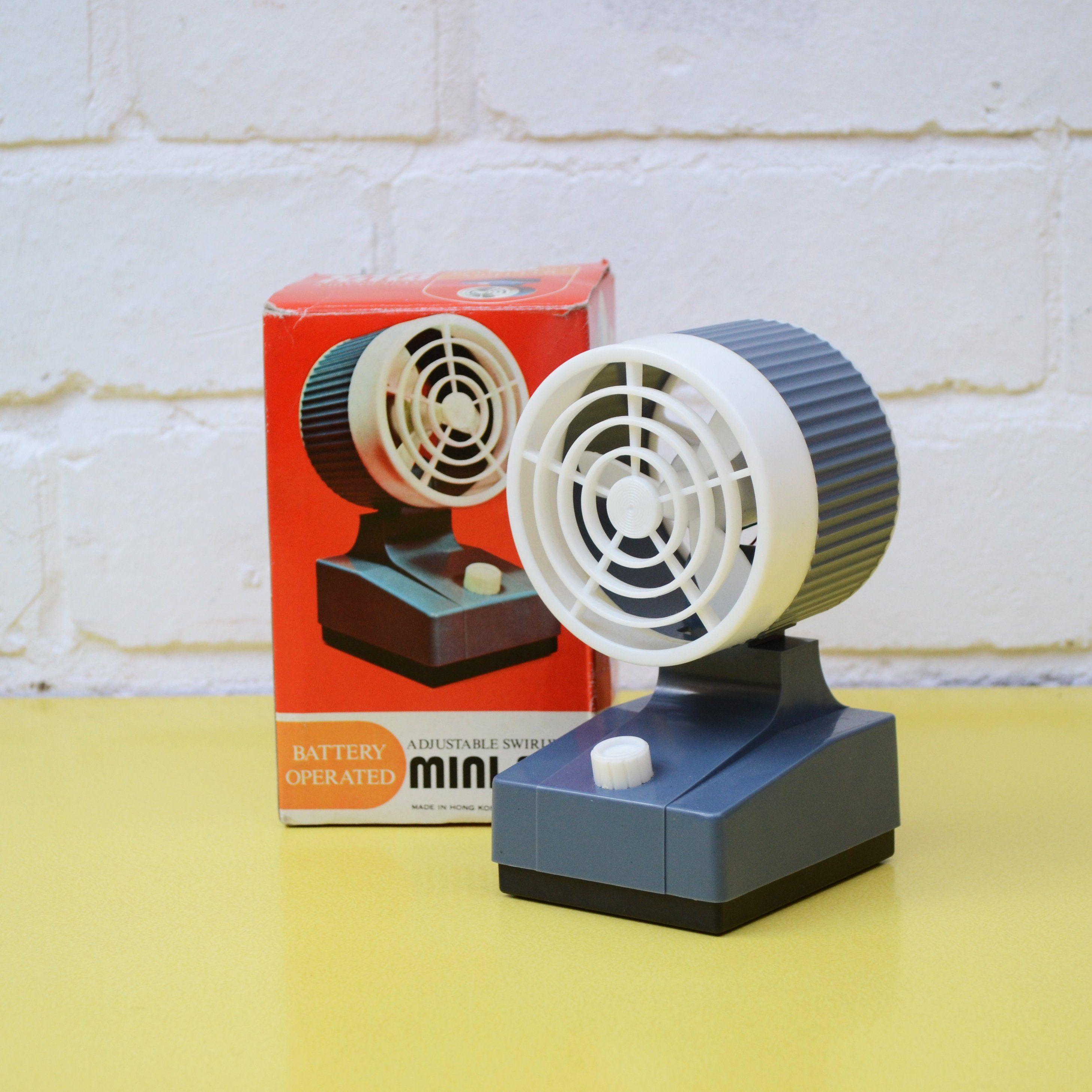 Vintage Mini Fan Battery Operated Desk Fan Office Fan Adjustable Swirlwind Mini Fan Tiny Personal Fan Travel Size Fan D Desk Fan Mini Desk Fan Office Fan