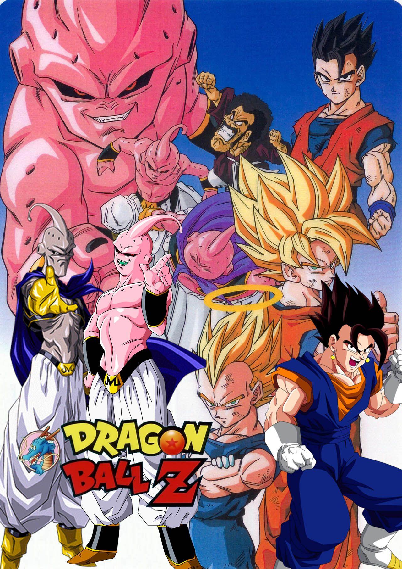 Dbz La Saga De Majin Boo Desenhos Dragonball Anime Goku Desenho