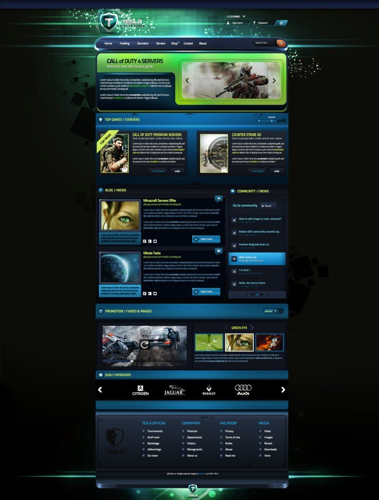 tesla gaming template for sale web design pinterest template