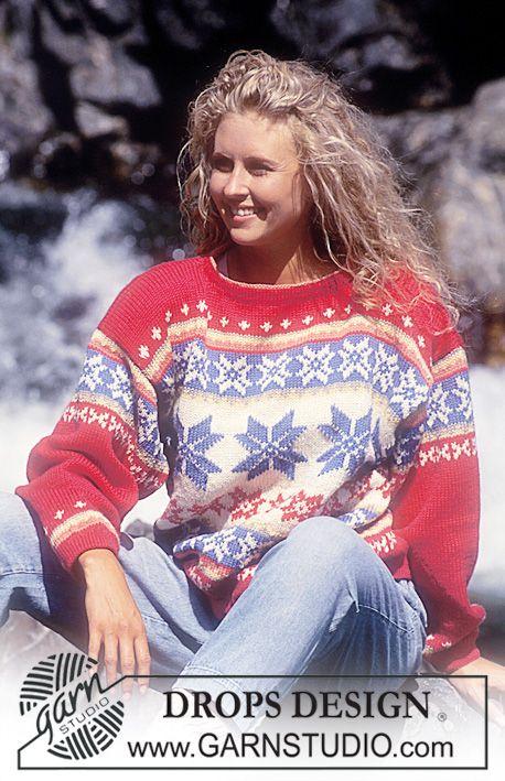 DROPS sweater i Karisma med nordiske stjerner Gratis opskrifter fra DROPS Design.