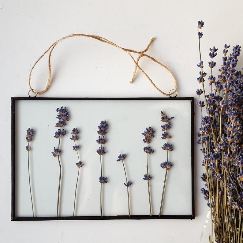 Pressed lavender flower frame / Pressed flower frame / dry