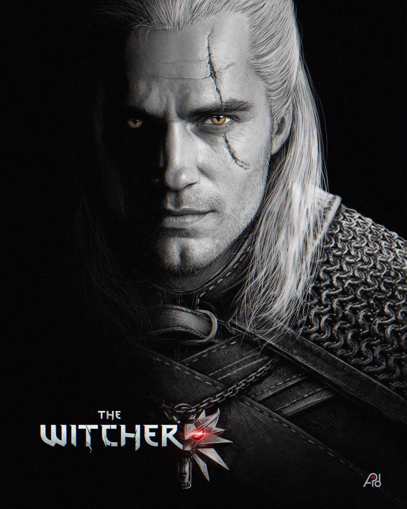 Fan Art Henry Cavill Geralt The Witcher 3 Wild Hunt V