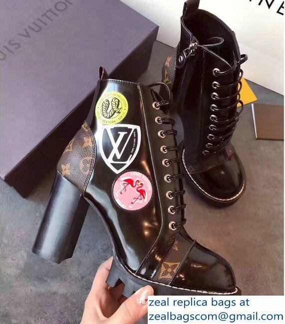 de6b32d696e3 Louis Vuitton Heel 9.5cm Platform 3cm Star Trail Ankle Boots Stickers