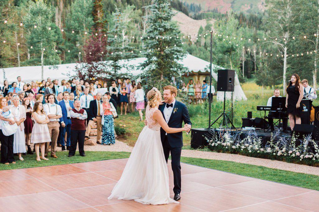 Plan A Romantic Wedding In The Mountains Reception Outdoor