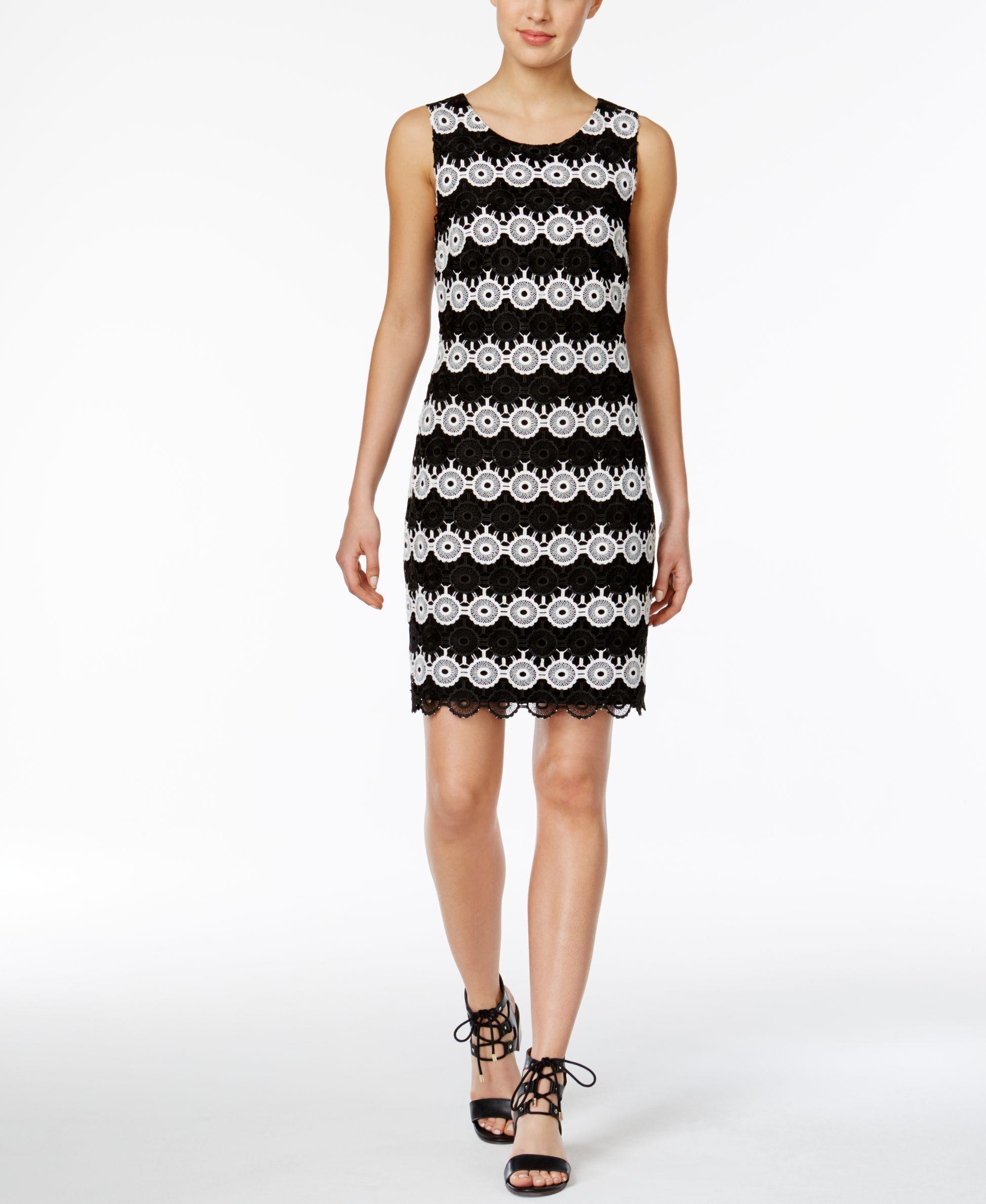 Tommy Hilfiger Circle Lace Sheath Dress