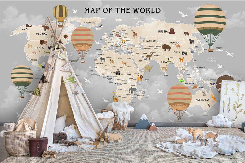 world map wallpaper dark