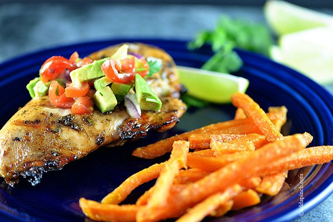 Cilantro Lime Chicken Recipe | ©addapinch.com