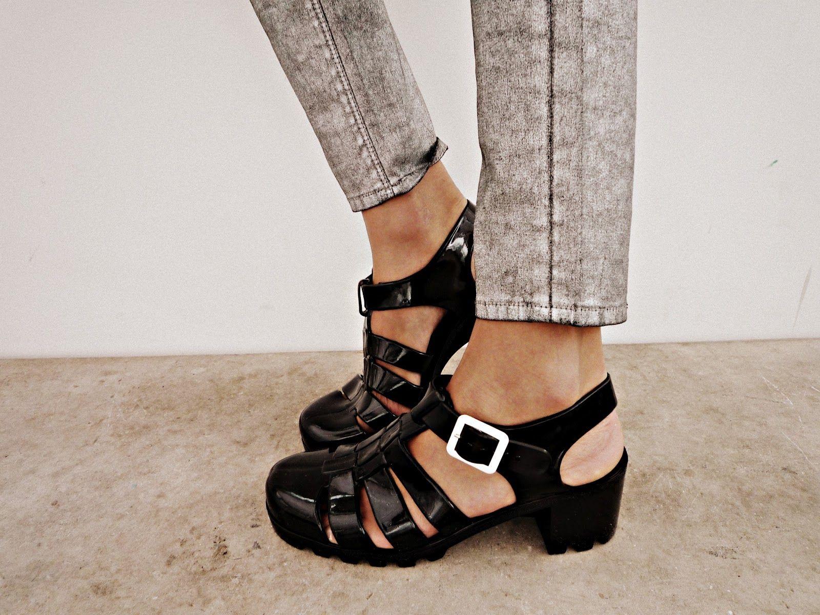 Black jelly sandals american apparel - Juju Footwear Tinkerbelle Mini Wedge Heeled Jelly Sandal Jelly Jelly Sandals And Footwear