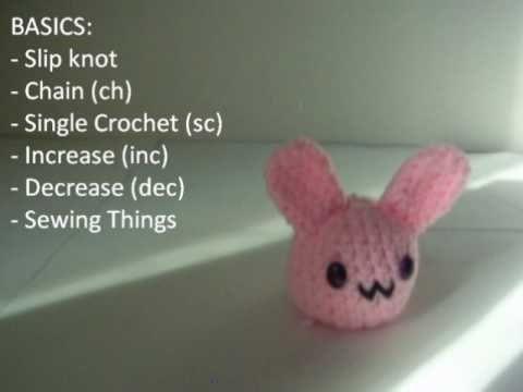 A simple amigurumi blob bunny... probably gonna be my first ami ...