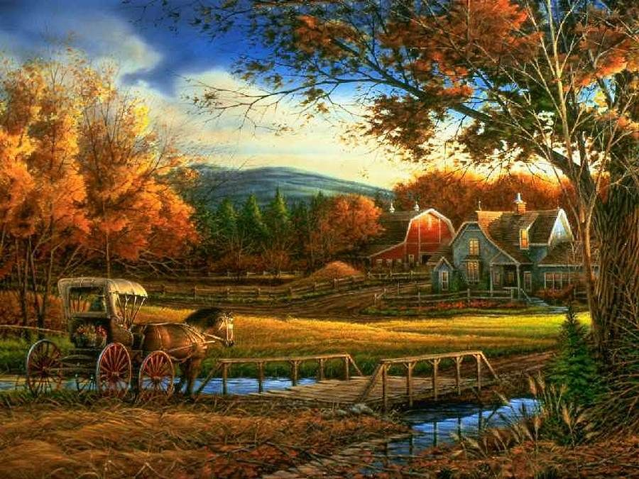 Terry Redlin Autumn In The Country