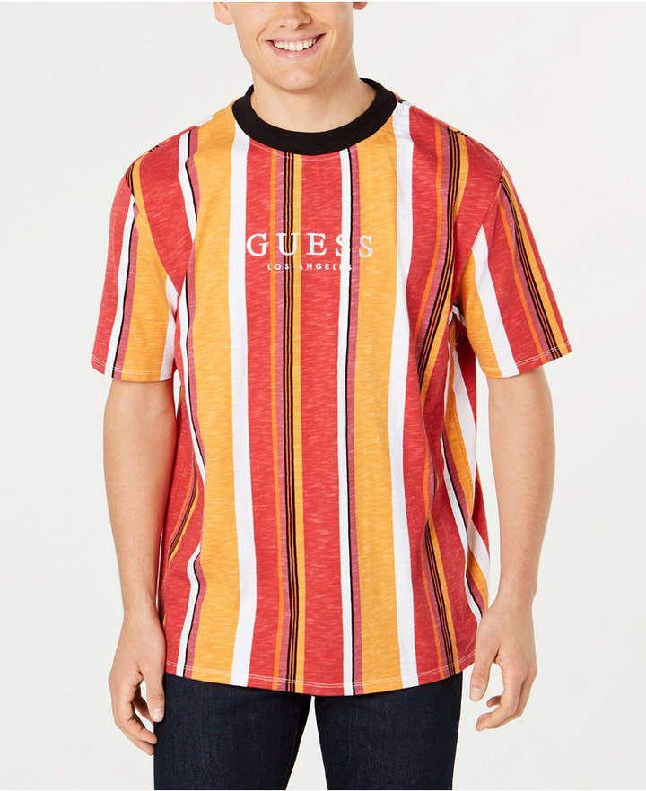 3a5cf92f86cd GUESS Originals Men Striped Logo T-Shirt in 2019 | Products | Shirts ...