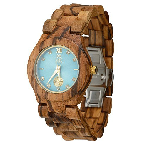 #beauty #hot This handmade Eco-friendly, analog, splash resistant #wooden watch is made with high quality 100% zebra wood . The 25 millimeter face makes it a gre...