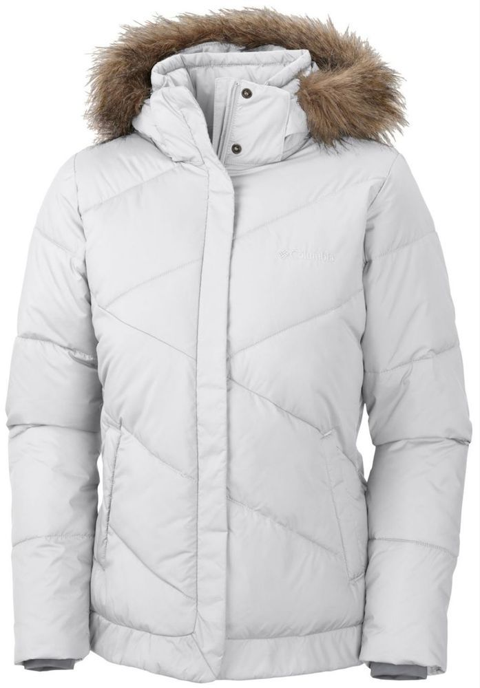 COLUMBIA WOMENS M SNOW ECLIPSE INSULATED WINTER JACKET WARM!! NEW!! WHITE   Columbia  WINTERINSULATEDJACKET 9cd539830