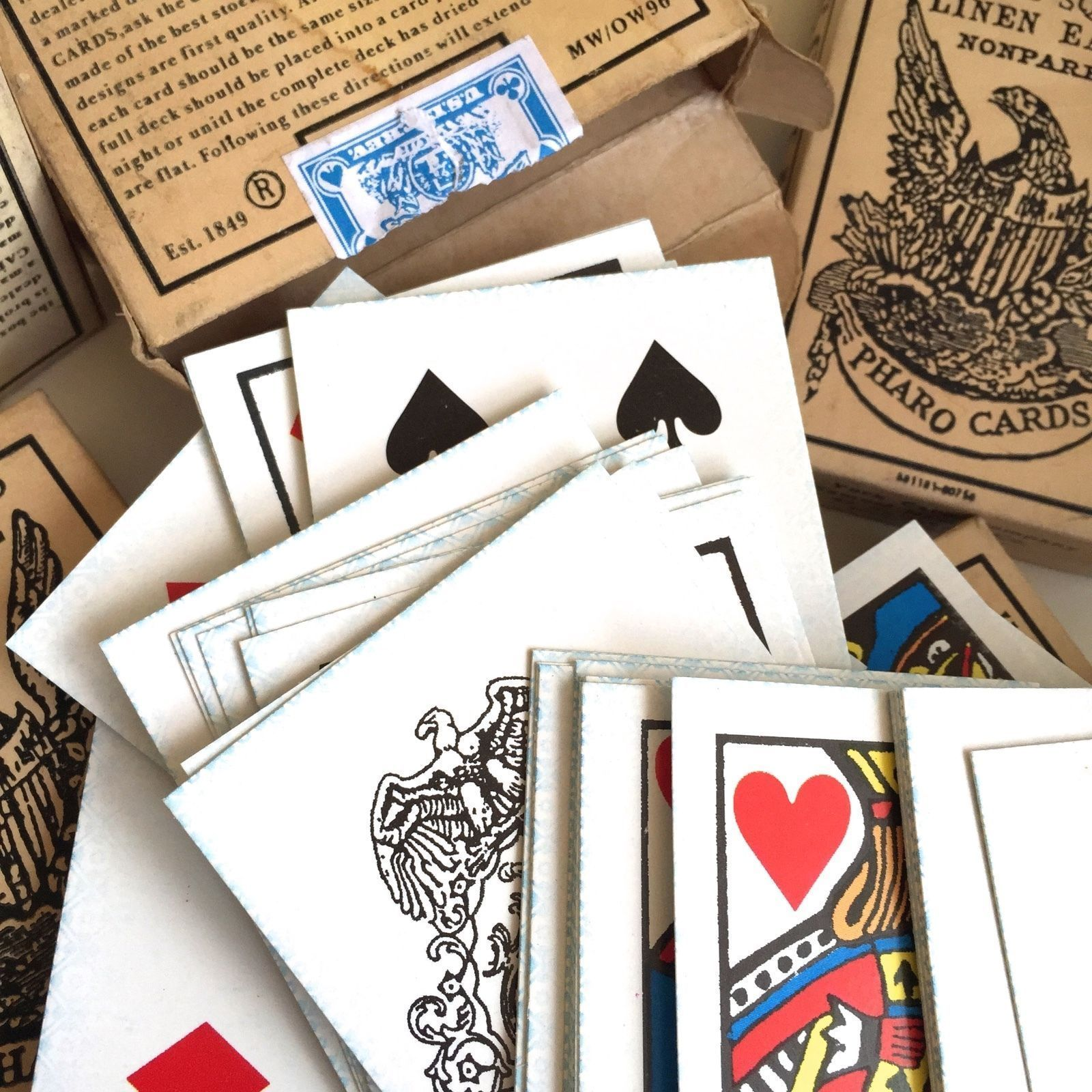 Details about old west pharo playing card deck faro
