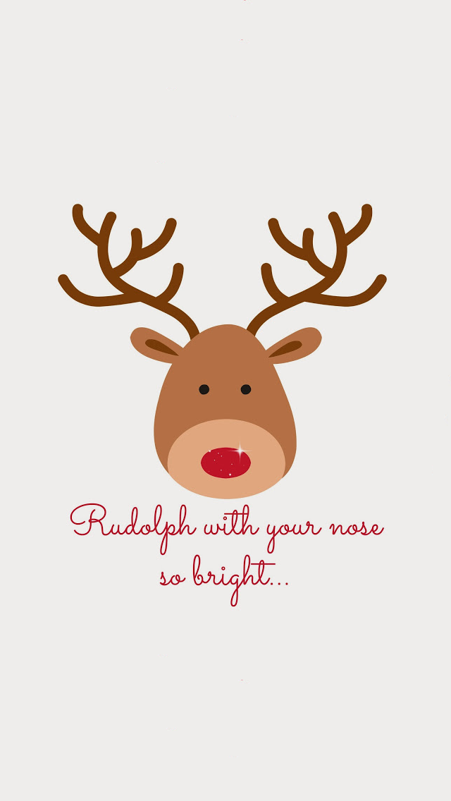 Christmas Rudolph ☆ Find more Seasonal wallpapers for your