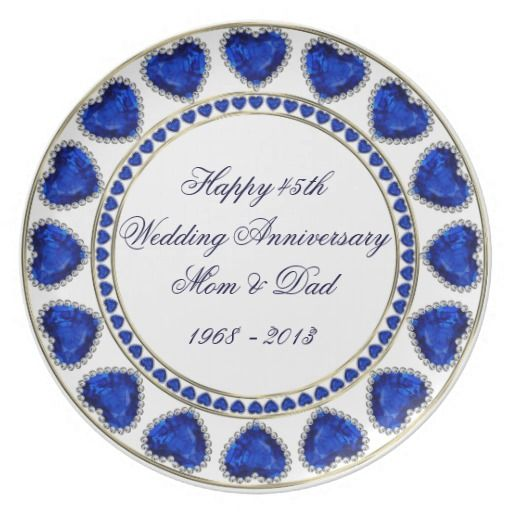 45th Wedding Anniversary Melamine Plate Ideas For Our 45th