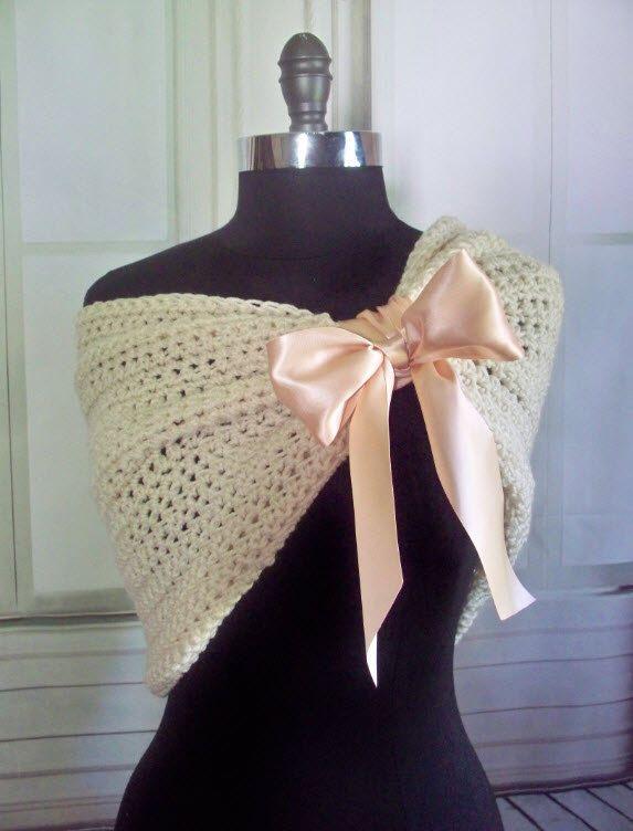 47648de038 Blush And Ivory Bridal Wrap Shrug Wedding Wrap Caplet Bolero Shawl Wedding  Jacket Bridesmaids Wrap Knit