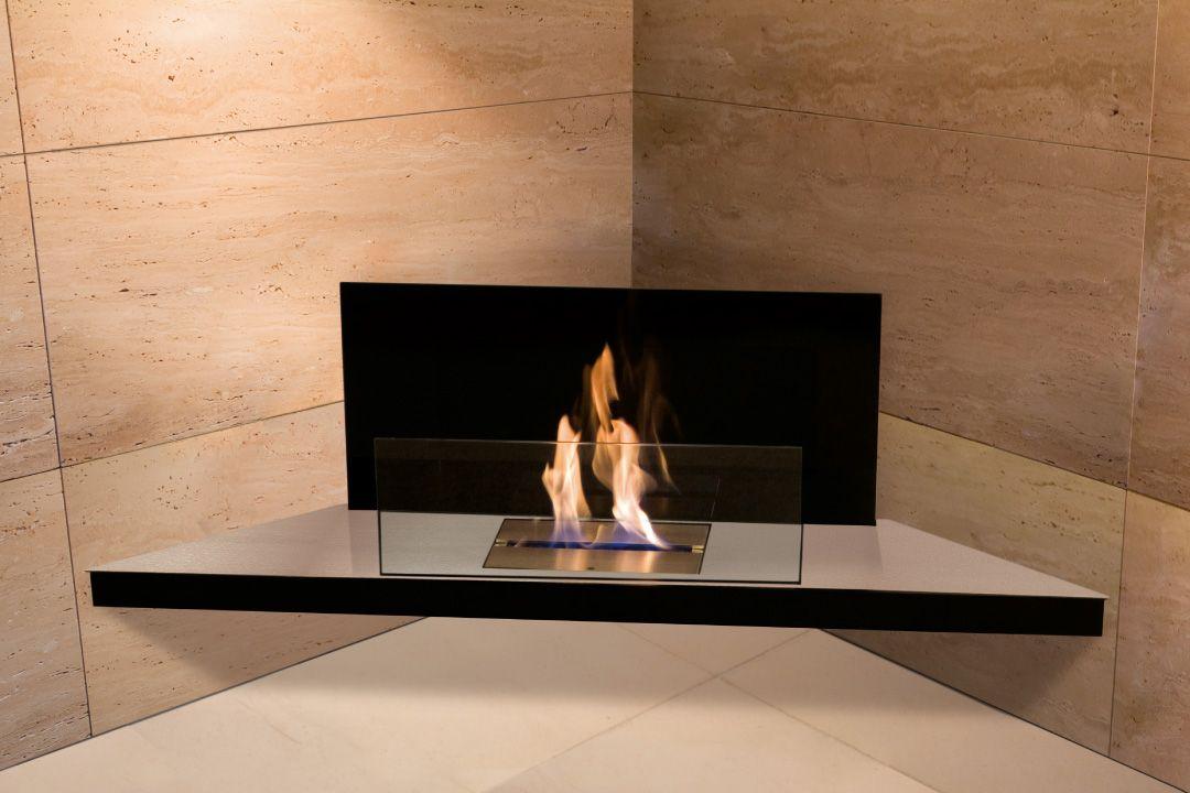CORNER FLAME Ethanol Fireplace | RADIUS DESIGN 899 U20ac #fireplace #modern # Chimney #