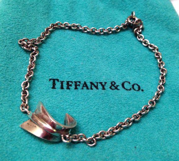 Rare Vintage Tiffany Co Sterling Silver Bent Arrow Bracelet 7 1 2 Quot Tiffany And Co Bracelet Vintage Tiffany Tiffany Co