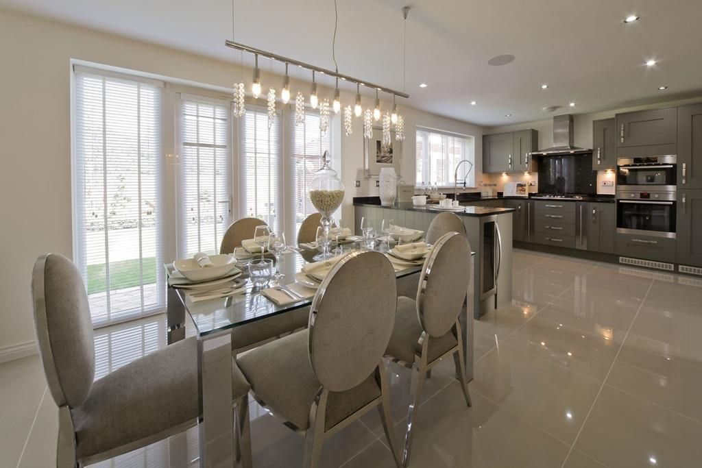 Grey Silver Kitchen Taylor Wimpey Show Home