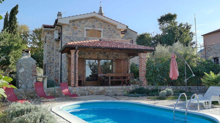 Fewostay De Vermietet Wird Eine Stein Villa Auf Der Insel Krk Das Villa Ferienhaus Kroatien Ferienhaus Krk