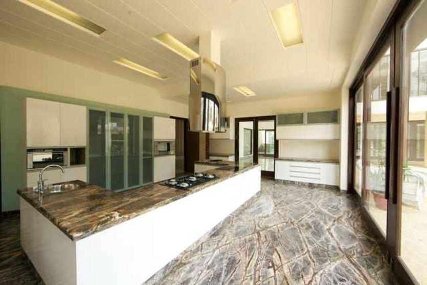 large kitchen with granite flooring designkapil