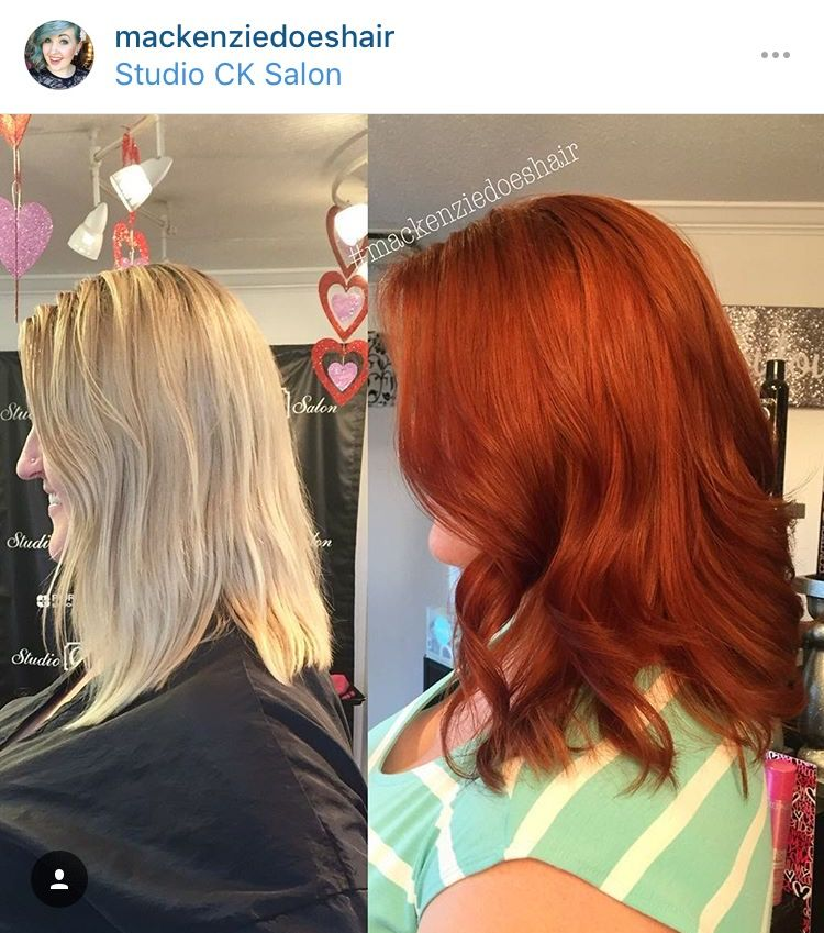 Jenny's been a platinum blonde for a good while now. We've been toying with the idea of going red for a few visits and this past time she decided to go for it! This was a blast! First, I filled her ends with Redken Shades EQ Gloss: 1oz 8CR, 1oz 7CC, 1oz 8WG to 3oz processing solution. That processed for 20 minutes and then we rinsed and blow dried. Then, I applied Redken Color Fusion: 1oz 7Cc, 1oz 7Cr, 1oz 7Gc to 3oz of 10 volume. Her face came alive with this color!