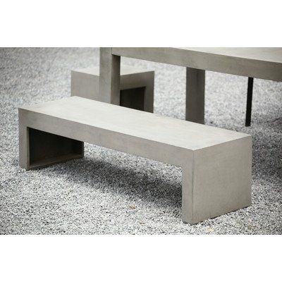 bank tisch aus beton jan kurtz beton pinterest. Black Bedroom Furniture Sets. Home Design Ideas