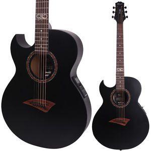 Details About Lindo Left Handed Slim ORG SL Infinity Matte Black Electro Acoustic Guitar