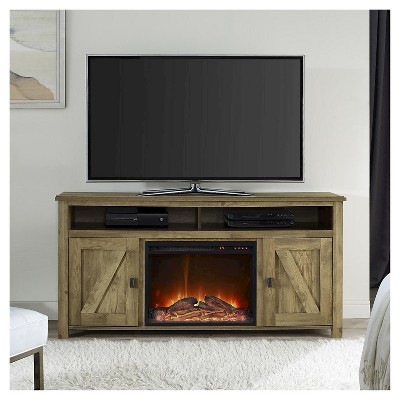 Brookside Electric Fireplace Tv Console For Tvs Up To 60 Light