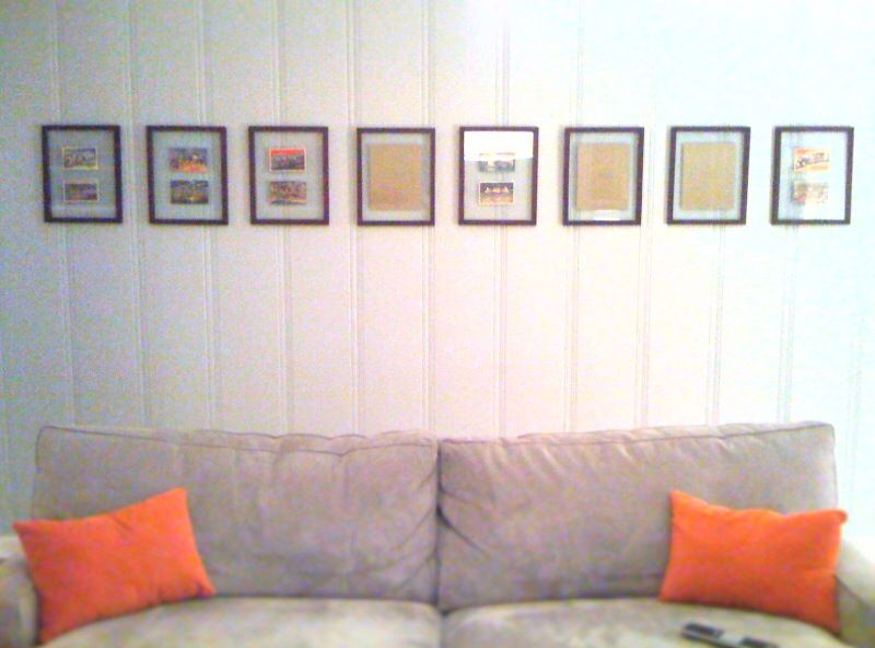how to hang multiple pictures in a straight line house stuff hanging pictures home decor. Black Bedroom Furniture Sets. Home Design Ideas