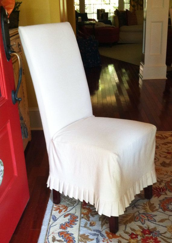 shabby chic dining room chair covers | Shabby Chic Parson's Chair Slipcover by ...