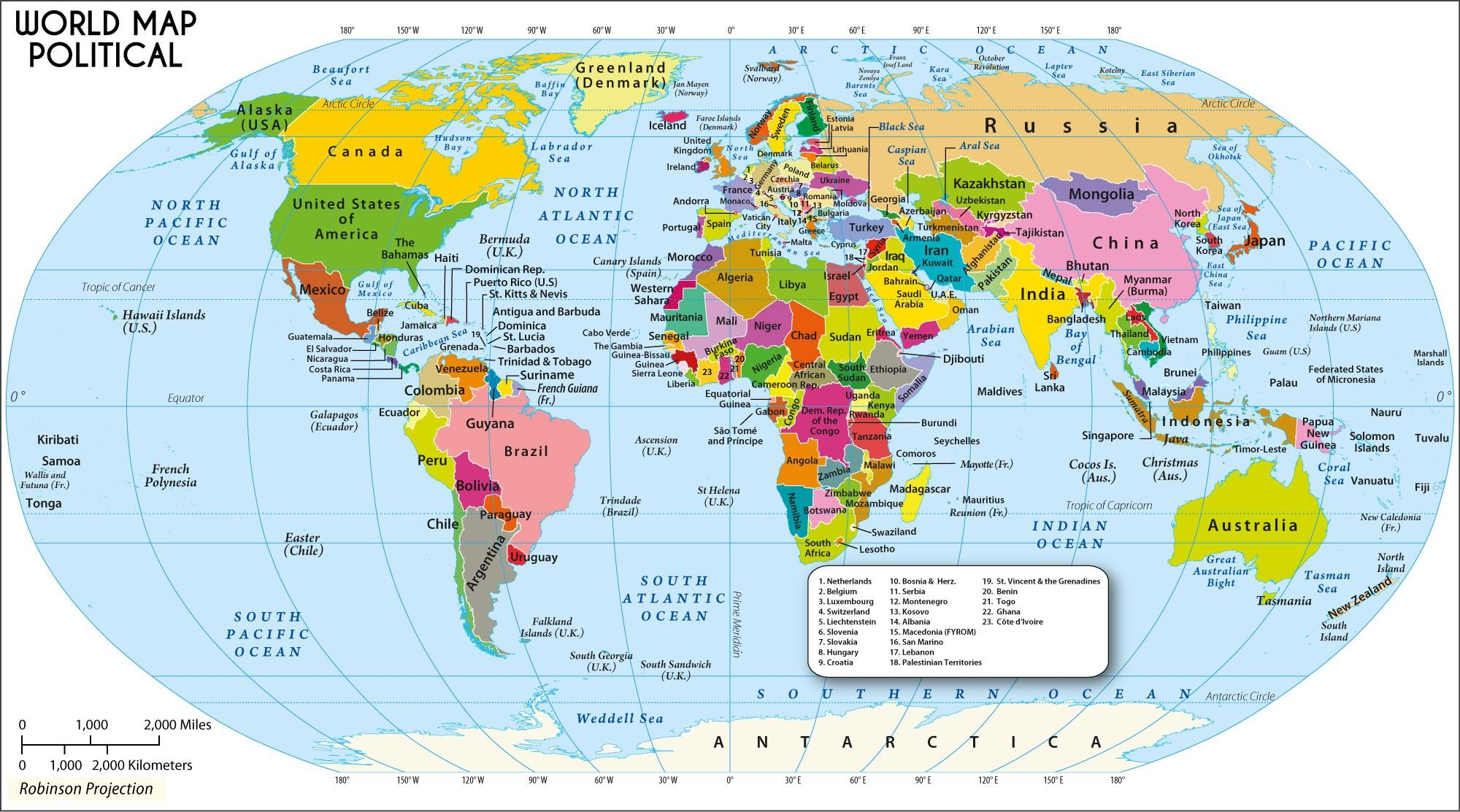 World Map With Countries Name And Continents Best List Of