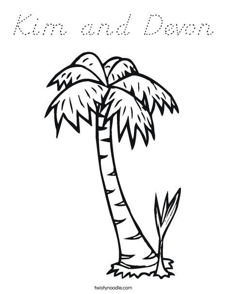 Palm Tree Coloring Page Tree Coloring Page Palm Tree Crafts Chicka Chicka Boom Boom