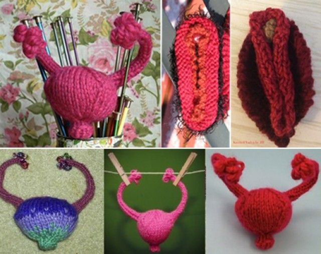 Knitting for good- women are mailing in vaginas and uteri to lawmakers oppressing women's health rights. #crafts