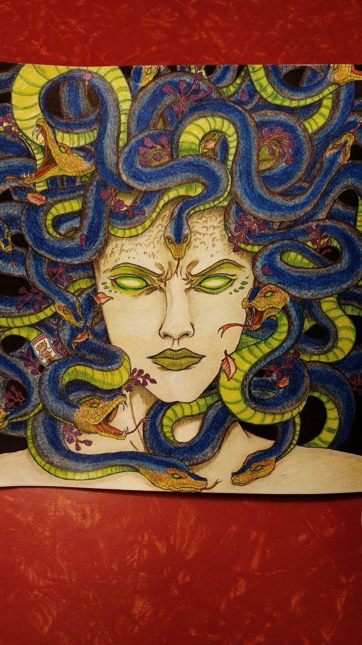 Mythomorphia....Medusa, done in Derwent color soft pencils