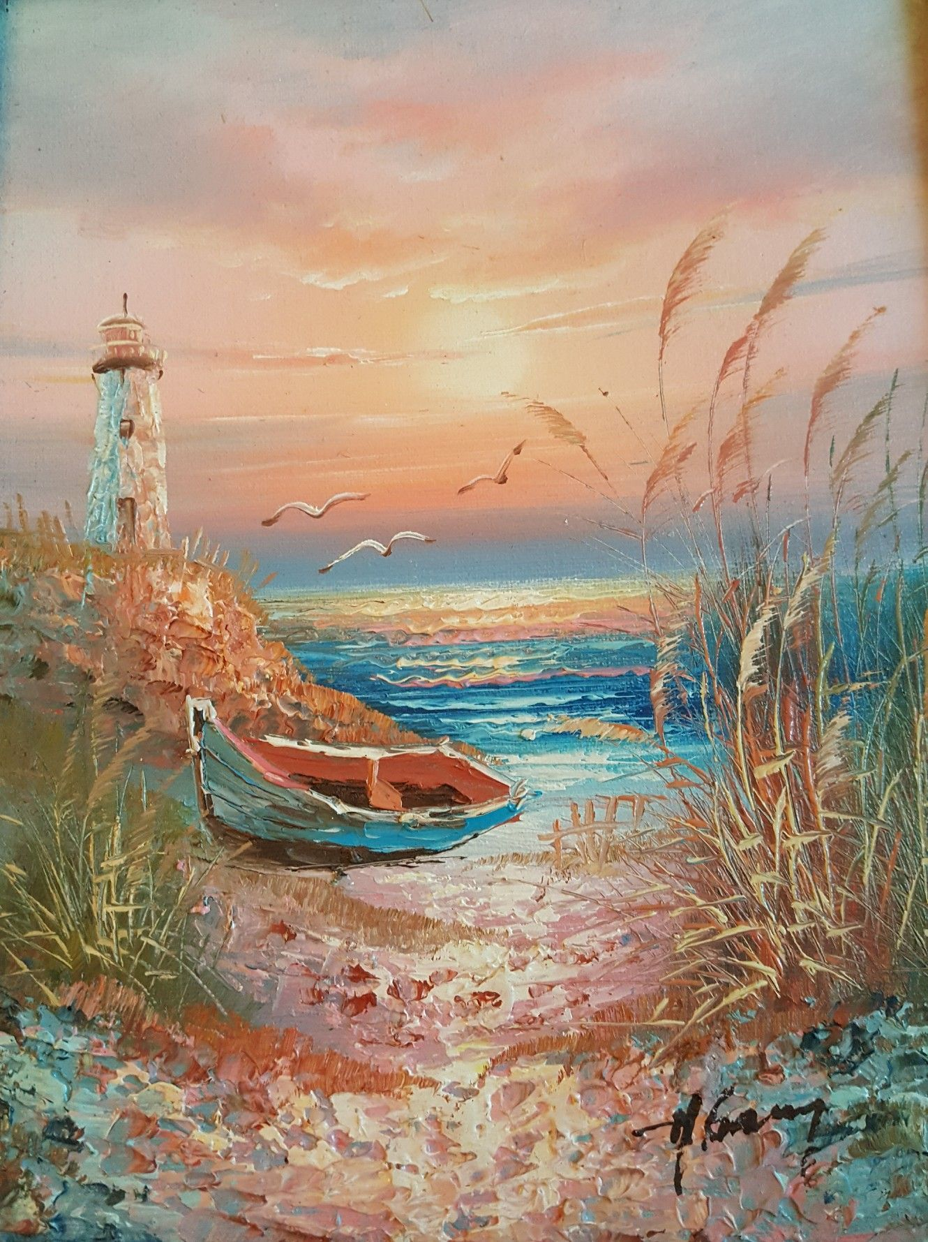 Famous Beach Paintings Google Search Beach Drawing Ocean Painting Landscape Paintings