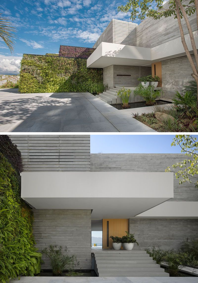 the interiors of this modern mexican house open to expansive outdoor