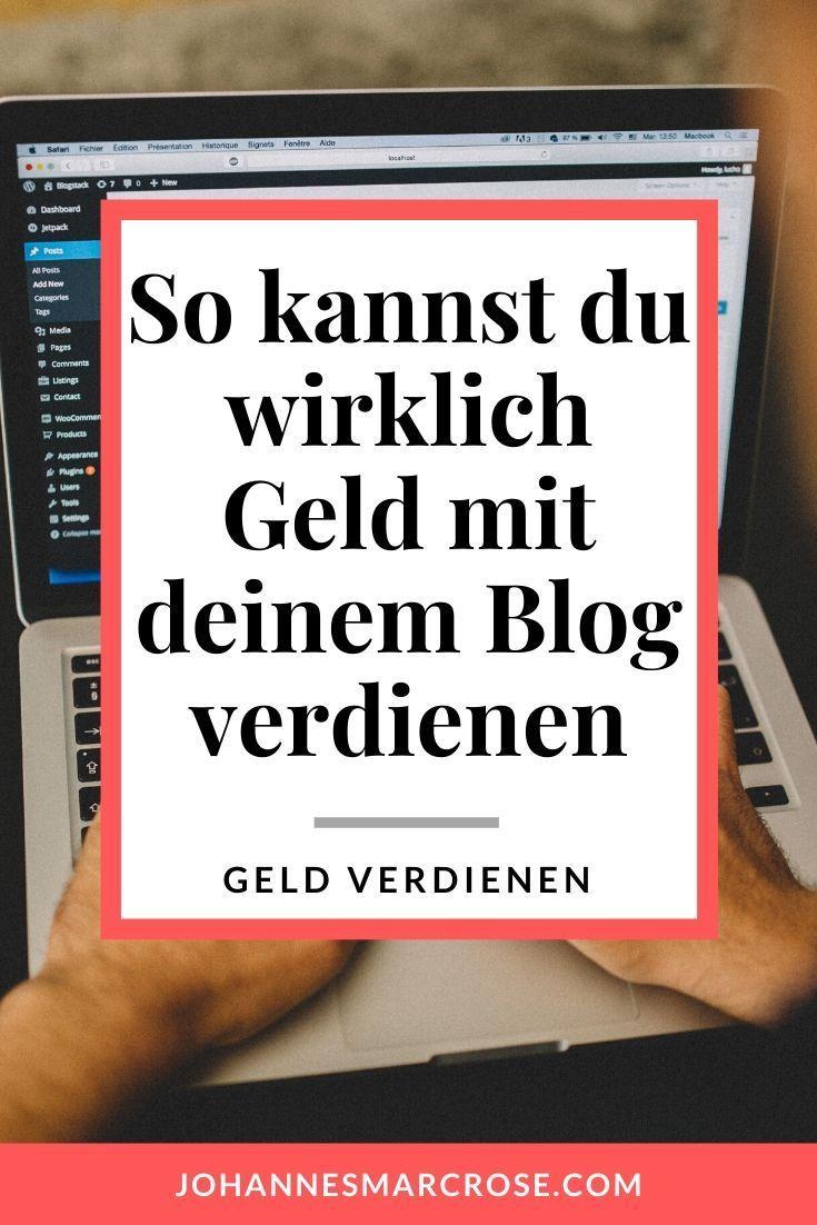 Geld verdienen mit deinem Blog - Diese Möglichkeiten gibt ...