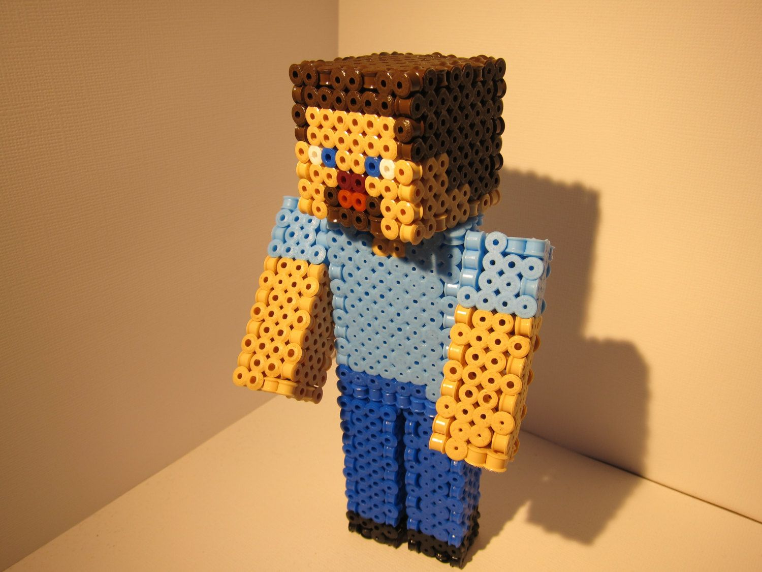 3d minecraft steve hama beads by 3dbeadsandsprites for joshua