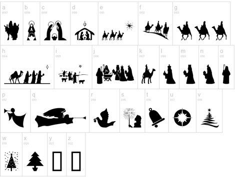 Christmas Silhouettes for different crafts....