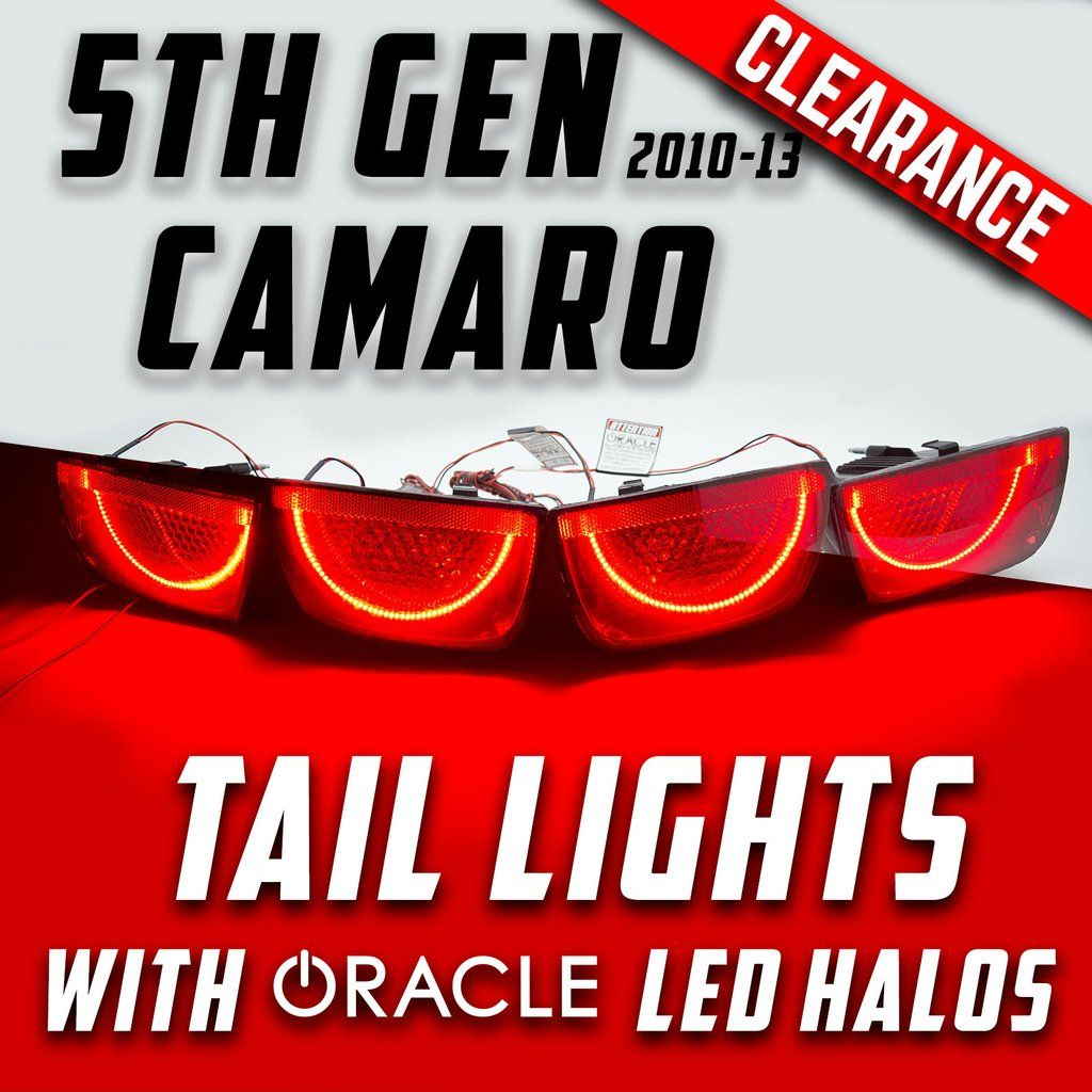 2010 13 Chevy Camaro Tail Lights With Oracle Afterburner Led Halo Kit Led Halos Tail Light