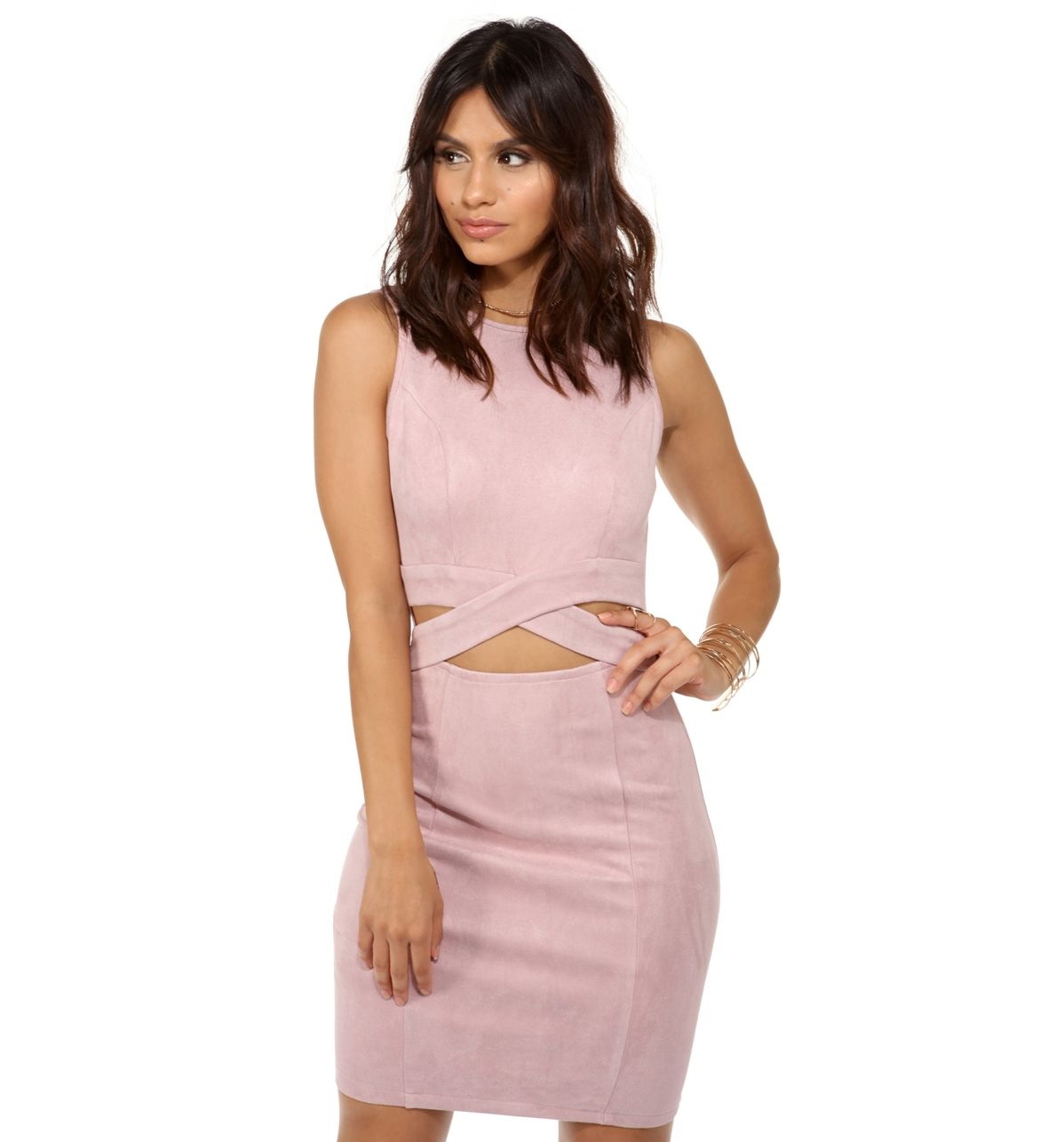 Mauve Between The Lines Dress