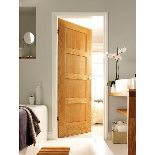 wickes marlow oak 4 panel shaker internal door 1981mm x. Black Bedroom Furniture Sets. Home Design Ideas