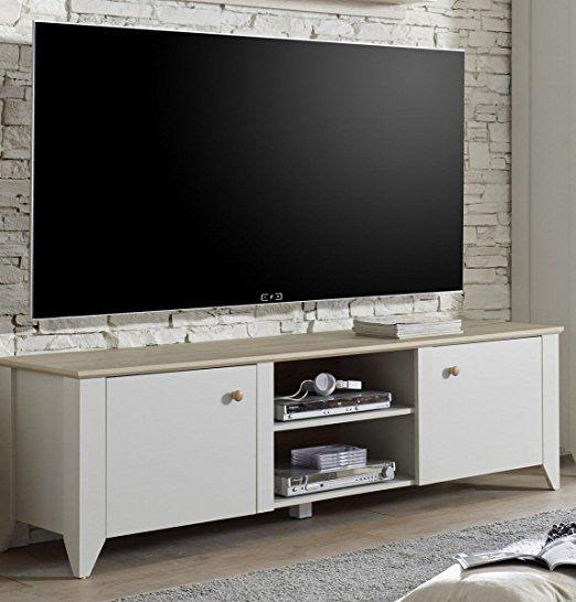Dreams4Home TV-Lowboard \u0027Trojis\u0027 - TV-Schrank, TV-Tisch, Schrank - schrank für wohnzimmer