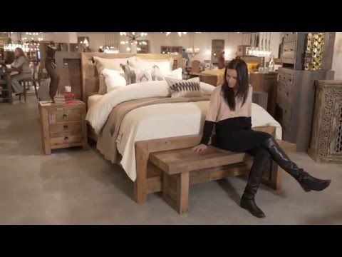Love weathered wood? This classic trend was spotted everywhere at Las Vegas Market earlier this year- and now we can't get enough! Watch as @lauriemarchhome  shows us the gorgeous accents, details, and styles seen at the event. #BehindtheDesign #LivingSpaces