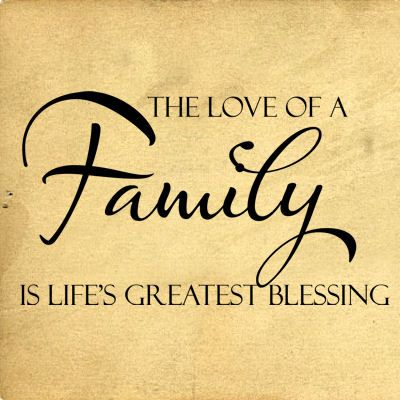 Love Of A Family Lifes Greatest Blessing Wall Decal Positive Best Lifes Great Quotes